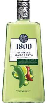 1800 Tequila Ultimate Jalapeno Lime Margarita 1.75L label