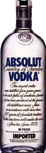 Absolut Vodka 80 Proof 1.75L label