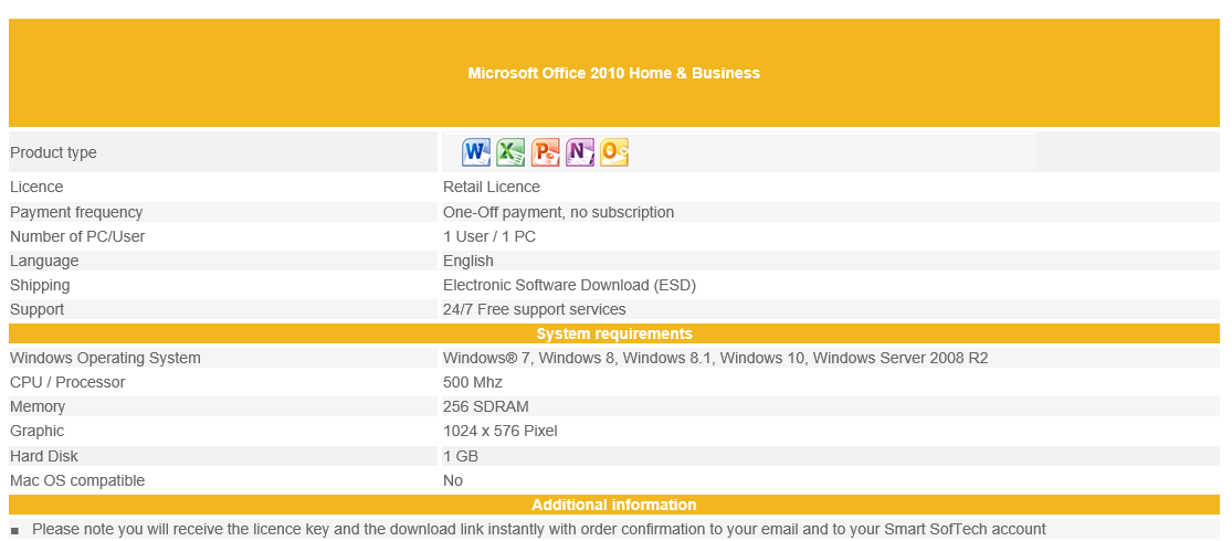 Microsoft Office 2010 Home & Business - Buy Now & download – Smart ...