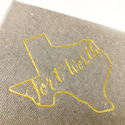 Fort Worth, Texas Tweed Cocktail Napkins