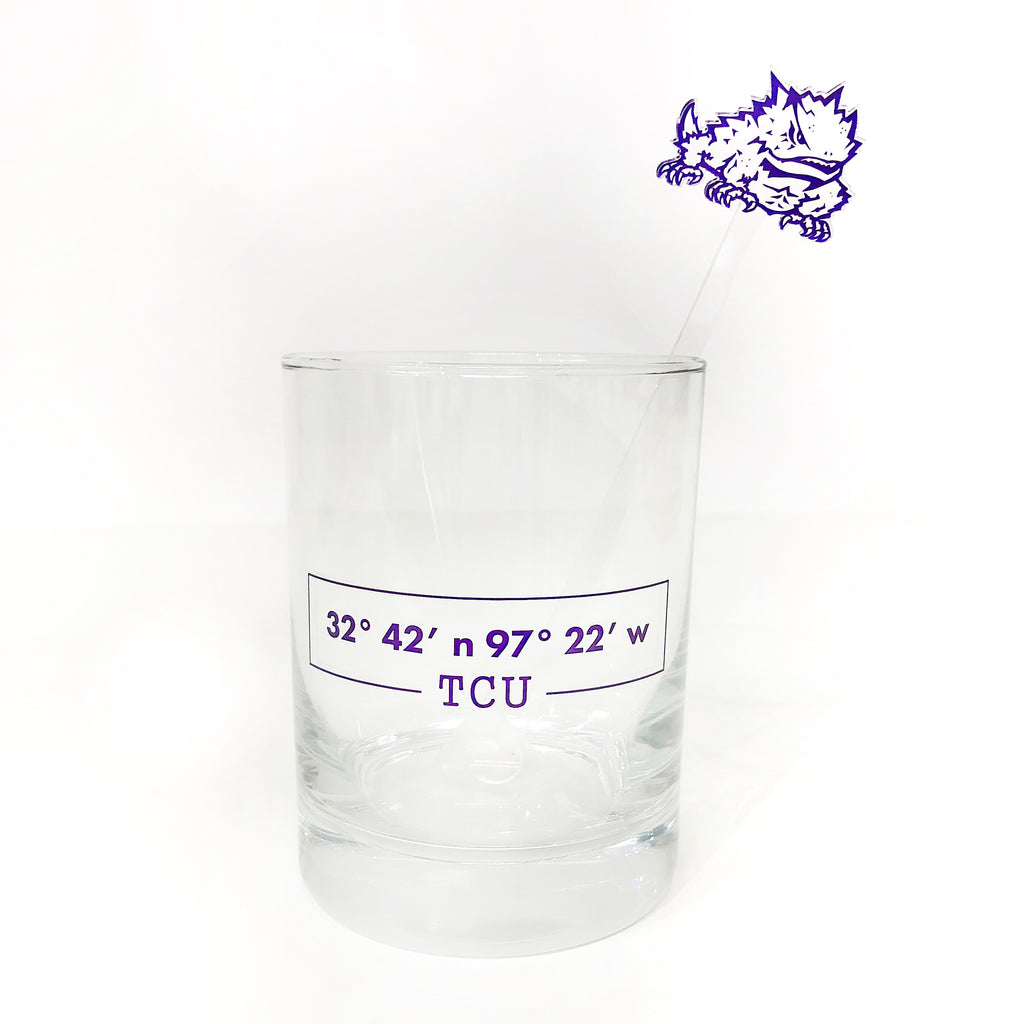 TCU Athletic Frog Acrylic Stir Sticks