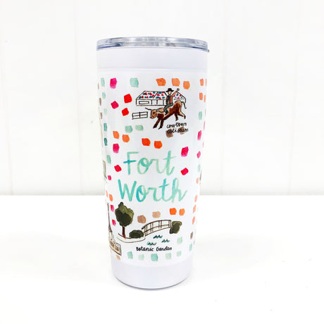 Fort Worth Map Tumbler