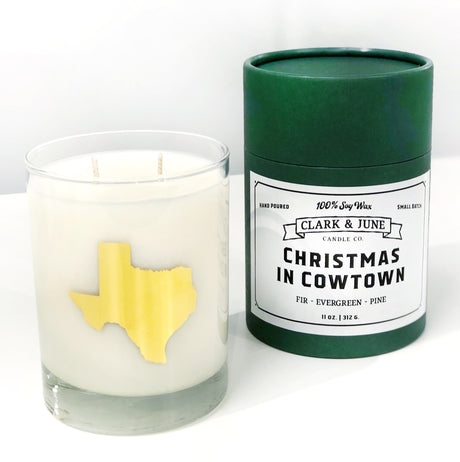 Christmas In Cowtown Cocktail Candle