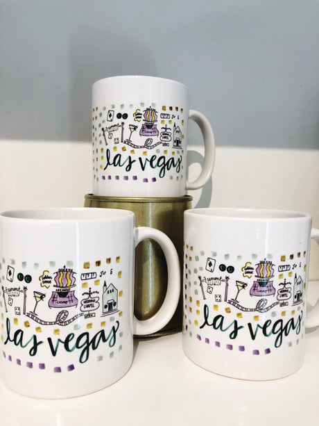 Las Vegas Map Mug