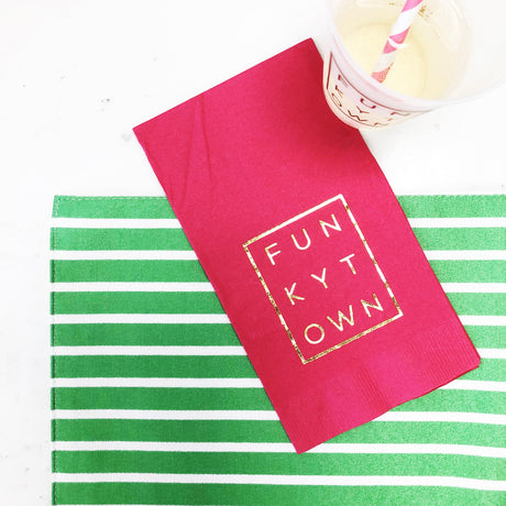 Pink Funkytown Guest Towel Napkins