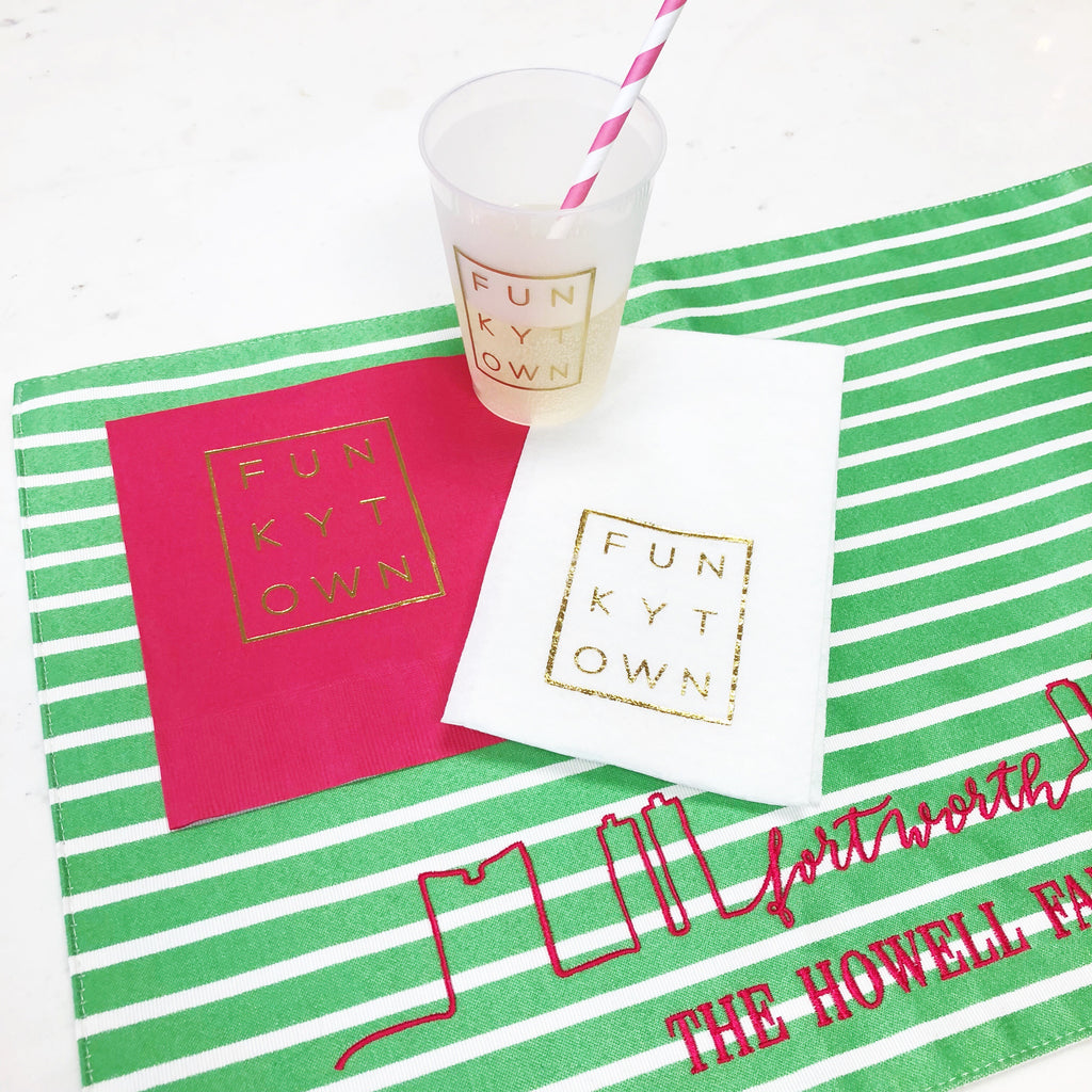 Pink Funkytown Luncheon Napkins