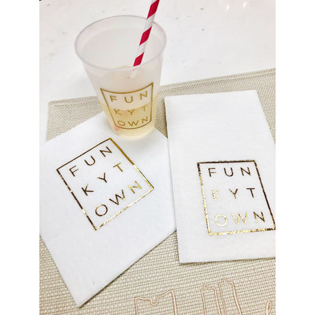 Gold Metallic Funkytown Cocktial Napkins