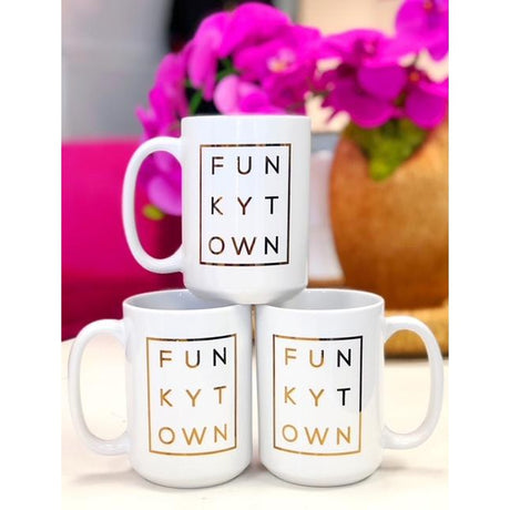 Gold Foil Funkytown Mug