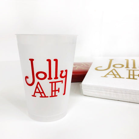 Jolly AF Shatterproof Cups - Red