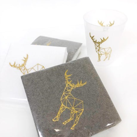 Modern Deer Tweed Cocktail Napkins