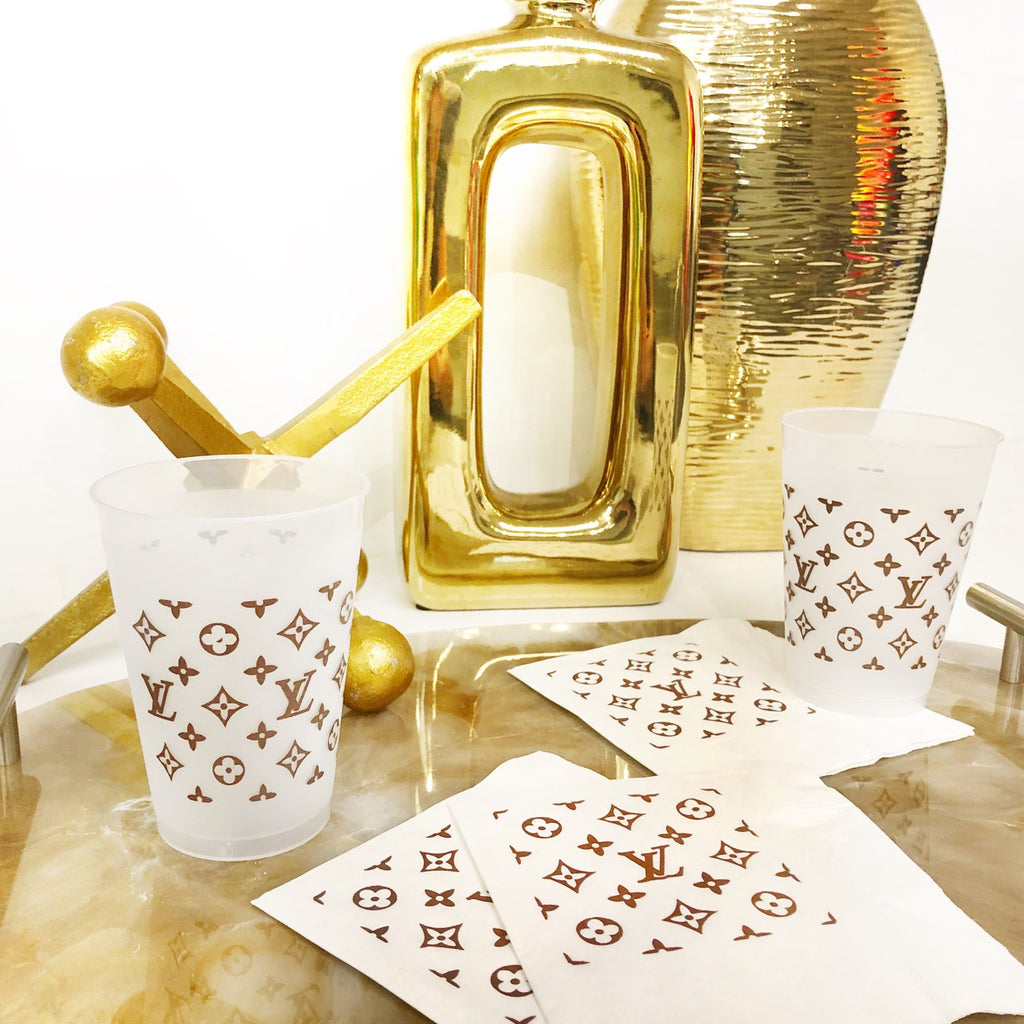 Louis Vuitton Cocktail Napkins - 3ply
