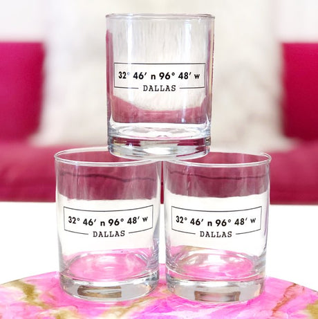 Dallas Coordinates Double Old Fashion Glass