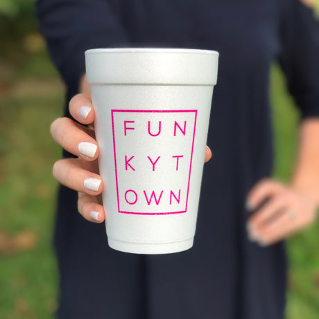 Funkytown Styrofoam Cups - BLACK