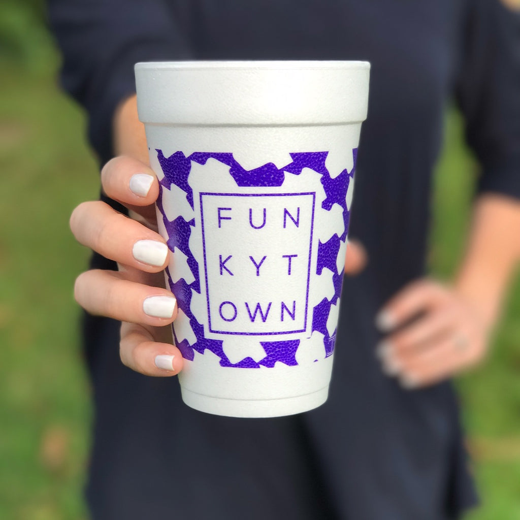 Funkytown Texas Houndstooth Styrofoam Cups