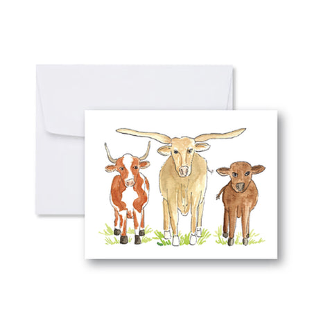 Three Cows Note Cards
