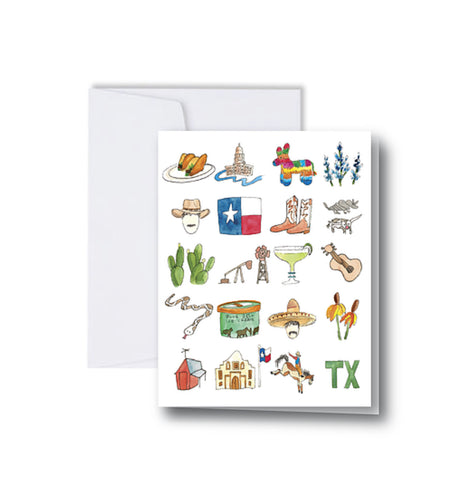 Texas Icons Note Cards