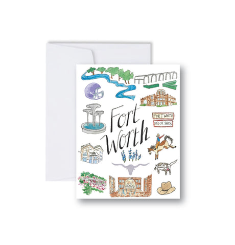 Fort Worth Icons Note Cards