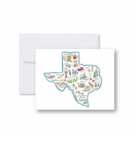 Texas State Note Cards