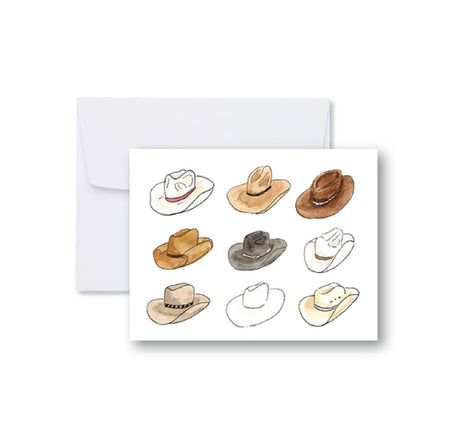 Cowboy Hat Collage Note Cards