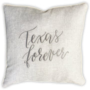 Texas Forever Embroidered Pillow