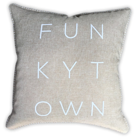 Funkytown Canvas Pillow