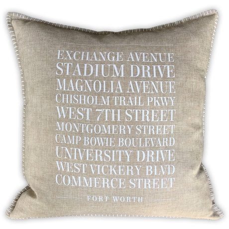 Fort Worth Streets Pillow