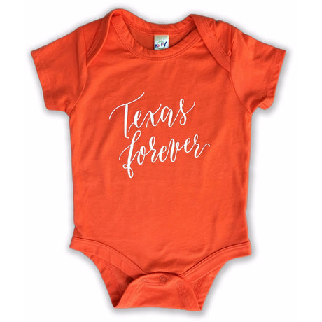 Texas Forever Onesie Orange