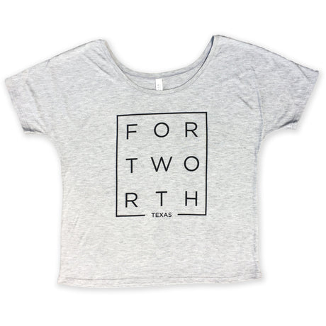 Marble Gray Modern Fort Worth Slouchy Tee
