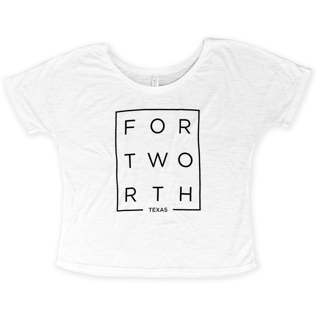 White Slub Modern Fort Worth Slouchy Tee