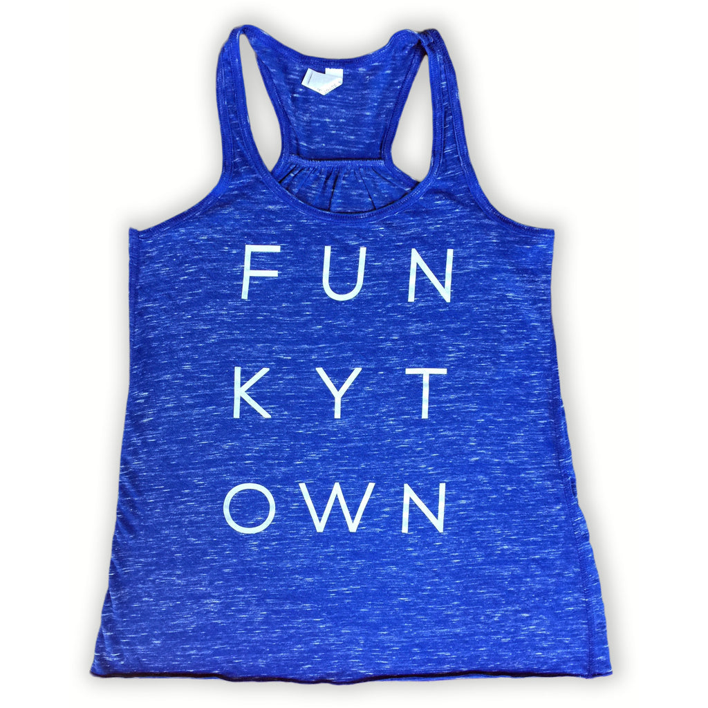 Royal Blue Heather Funkytown Racerback Tank
