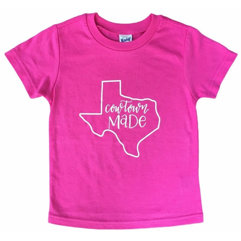 Cowtown Made Toddler Tee Pink