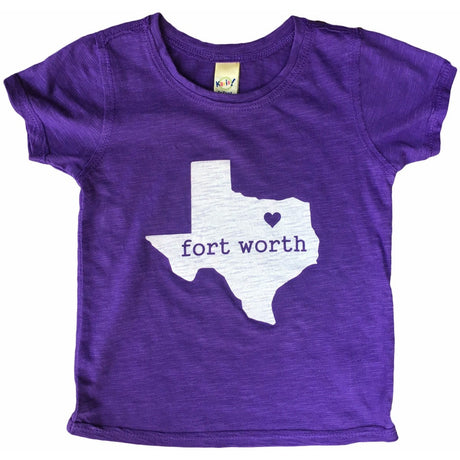 Fort Worth, Texas Heart Infant Tee Heather Purple