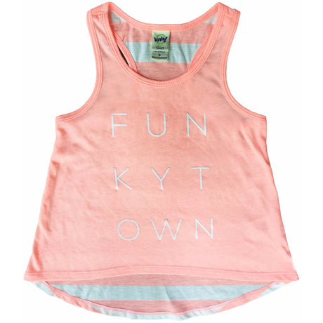 Funkytown Little Girls Tank Striped Flamingo