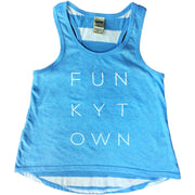 Funkytown Little Girls Tank Striped Blue