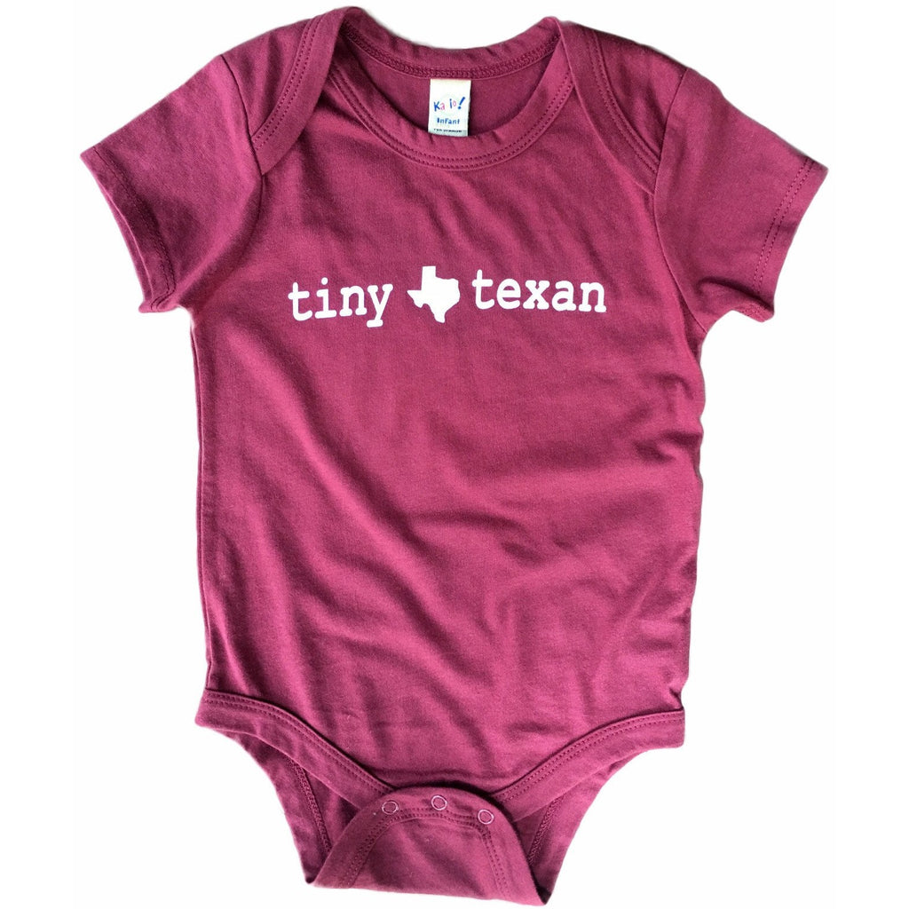 Tiny Texan Onesie Maroon