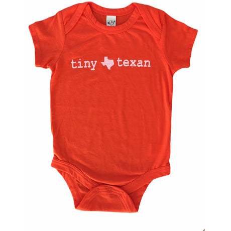 Tiny Texan Onesie Orange