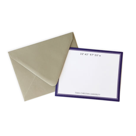 TCU Coordinates Note Card Set