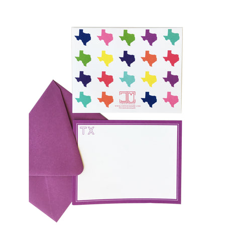 Texas Colors Flat Note Card Set