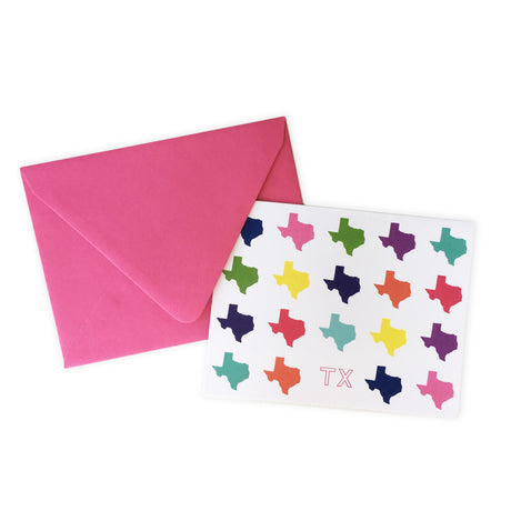 Texas Colors Folded Note Card Set