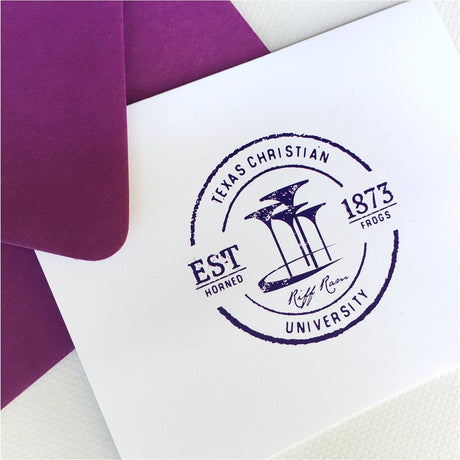 Vintage TCU Logo Folded Note Card Set