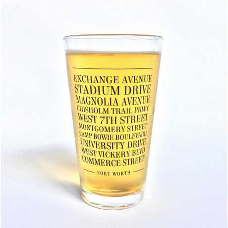 Fort Worth Streets Pint Glass