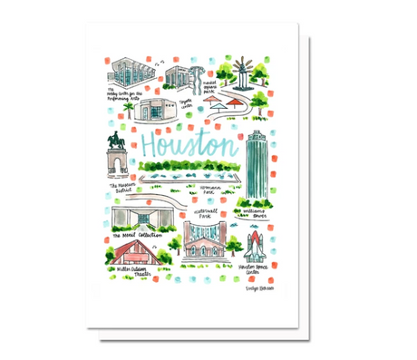 Houston Map Greeting Card
