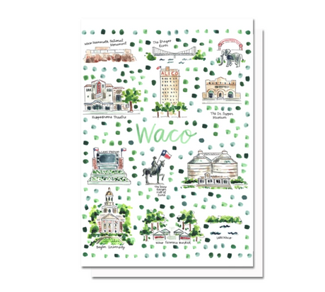 Waco Map Greeting Card