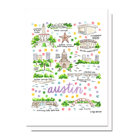 Austin Map Greeting Card
