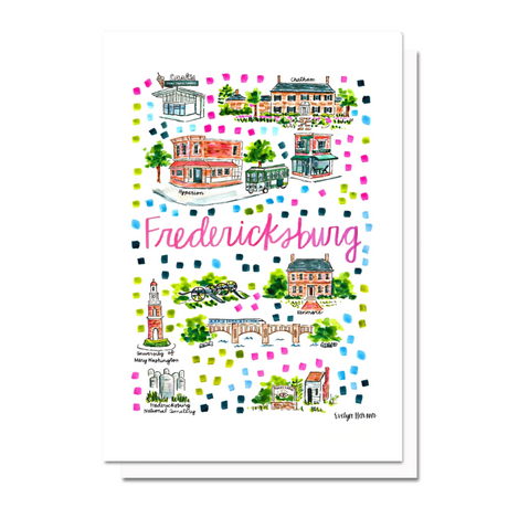 Fredericksburg Map Greeting Card