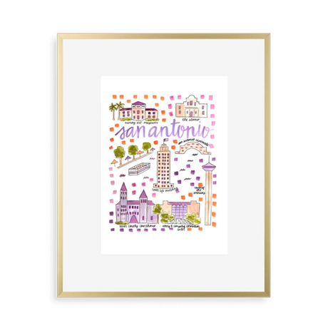 San Antonio Map Art Print