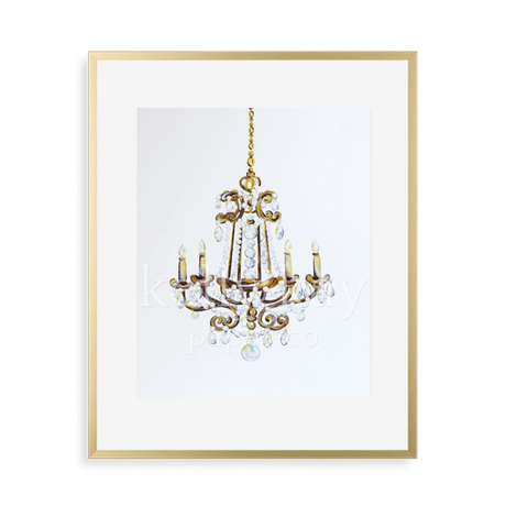 Kelly Kay Art Print - Sparkling Chandelier