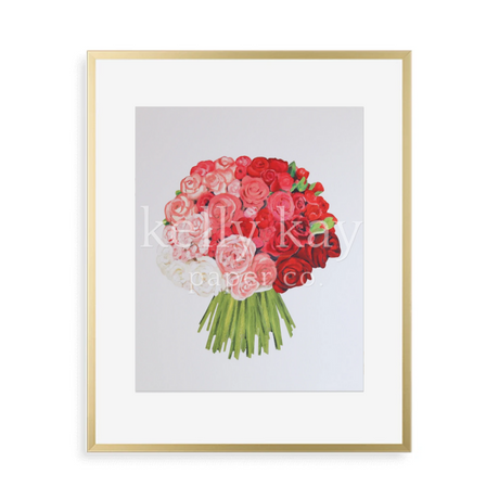 Kelly Kay Art Print - Rose Bouquet
