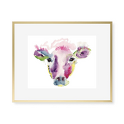 Bessie the Cow Watercolor Art Print