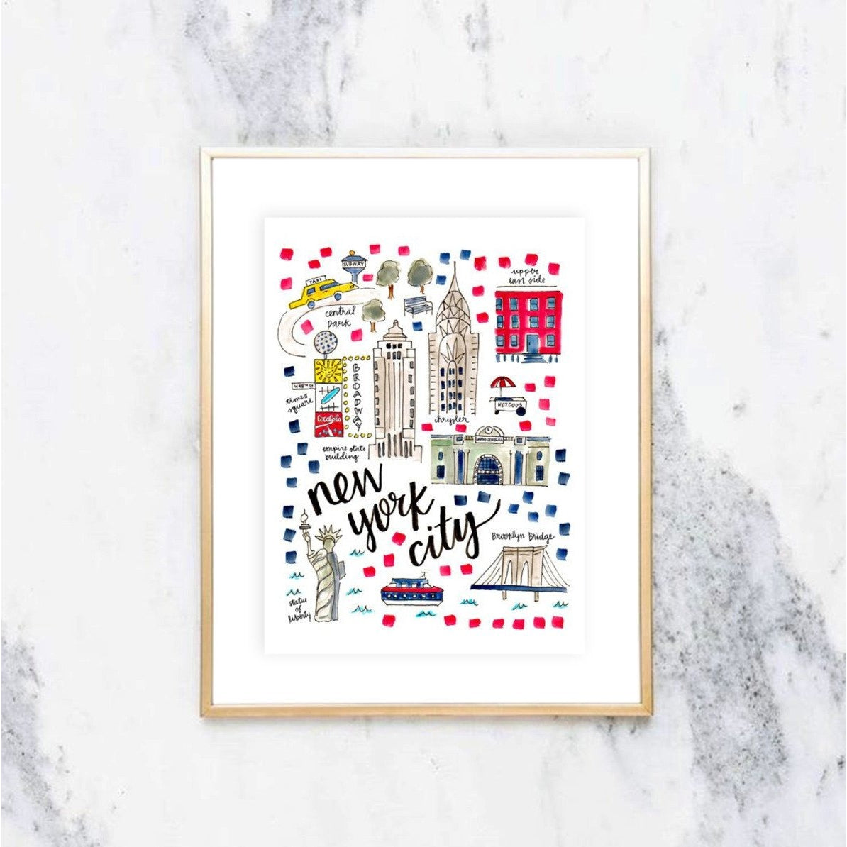 New York City Map Print Cowtown Made